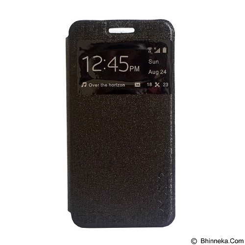 Myuser Flip Cover for Xiaomi Redmi 3 - Black (Merchant) - Casing Handphone / Case