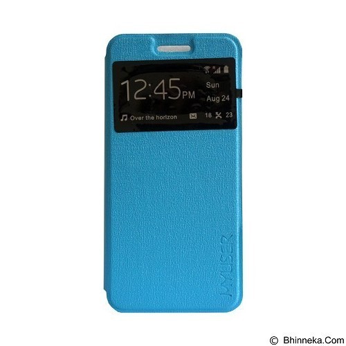 Myuser Flip Cover for Xiaomi Redmi 3 - Blue (Merchant) - Casing Handphone / Case