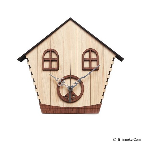 NAIL YOUR ART Jam Dinding Artistik Birdhouse [NYA150701] - Brown (Merchant) - Jam Dinding