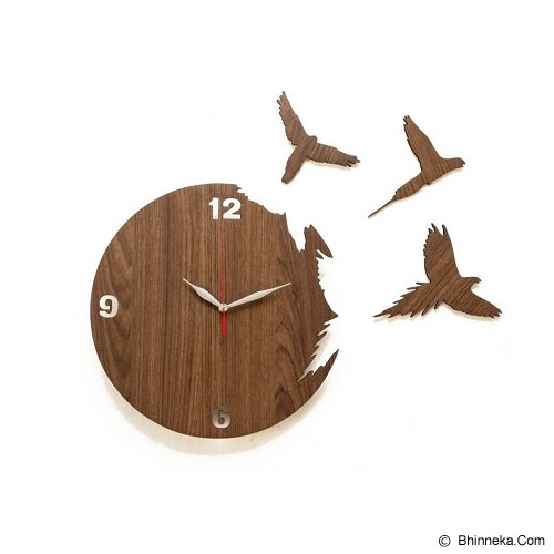 NAIL YOUR ART Jam Dinding Artistik Flying Bird [NYA131002] - Artistic Wall Clock - Jam Dinding