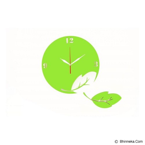 NAIL YOUR ART Jam Dinding Artistik Wall Clock Go Green [NYA140205] - Jam Dinding