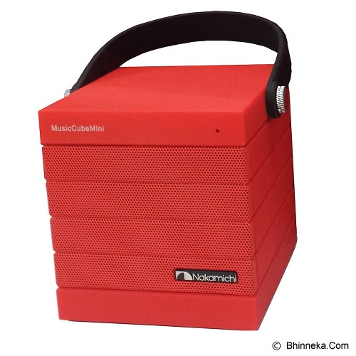 NAKAMICHI Music Cube Mini - Red - Speaker Bluetooth & Wireless