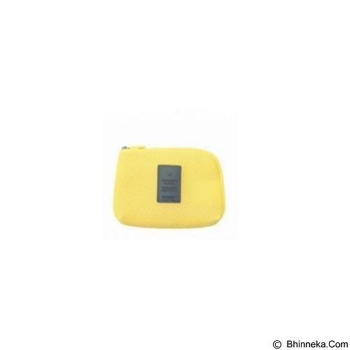 NANOPANDA SHOP Shockproof Mesh Organizer Pouch Small - Yellow (Merchant) - Sarung Handphone / Pouch