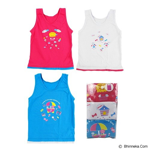 NATHALIE KIDS Colourfull Tank Top Kids Size L [NTKA 1059] - Jumper Bepergian/Pesta Bayi dan Anak