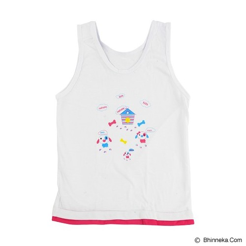 NATHALIE KIDS Colourfull Tank Top Kids Size M [NTKA 1059] - White - Jumper Bepergian/Pesta Bayi dan Anak