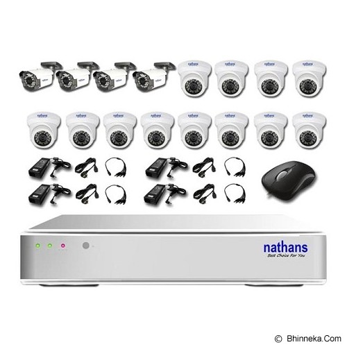 NATHANS CCTV Package 16 Channel - Cctv Camera
