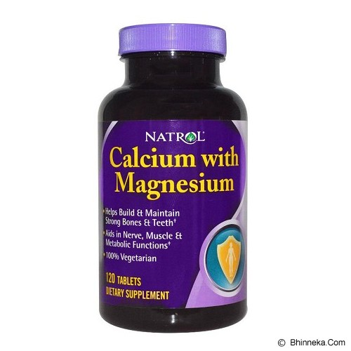 NATROL Calcium with Magnesium 120 Tablets [NCL0005] - Suplement Tekanan Darah