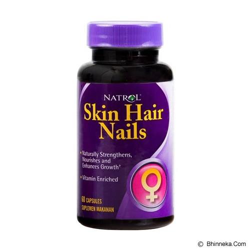 NATROL Skin Hair Nail Formula 60 Caps - Suplement Kesehatan Kulit