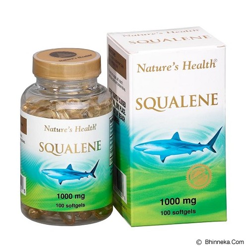 NATURE'S HEALTH Squalene 1000Mg 100 Softgels - Suplement Penambah Daya Tahan Tubuh