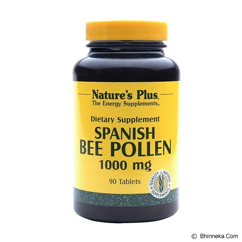 NATURE'S PLUS Bee Pollen 1000 MG 90 Tablets - Suplement Penambah Daya Tahan Tubuh