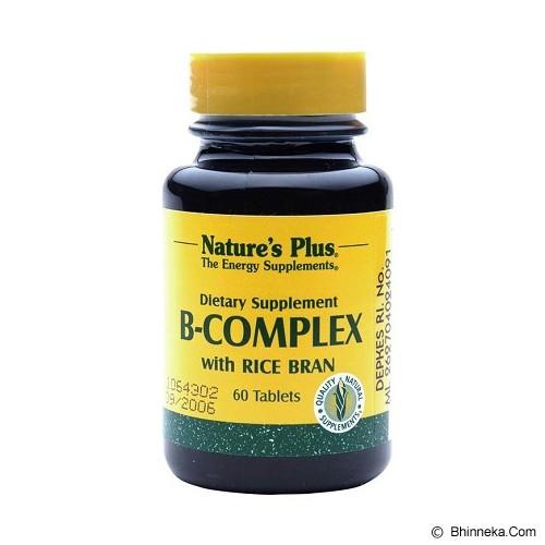 NATURE'S PLUS Plus B Complex 60 Tablets - Suplement Peningkat Metabolisme Tubuh