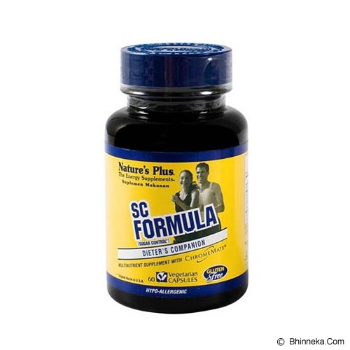 NATURE'S PLUS SC Formula (60 Kapsul) - Suplement Penderita Diabetes