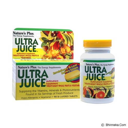 NATURE'S PLUS Ultra Juice (90 Tablet) - Suplement Peningkat Metabolisme Tubuh