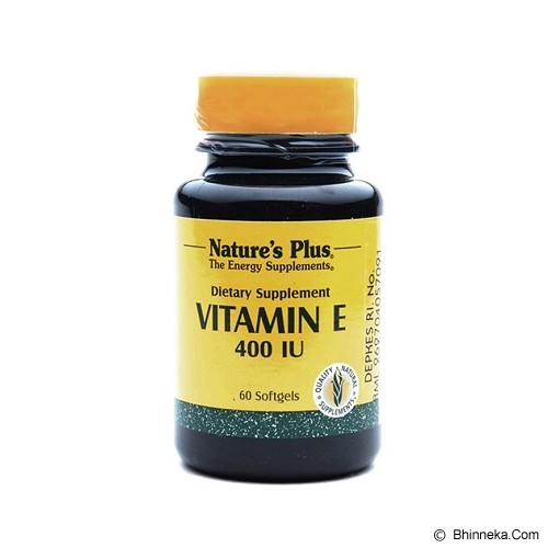 NATURE'S PLUS Vitamin E 400 IU (60 Softgels) - Suplement Kesehatan Kulit