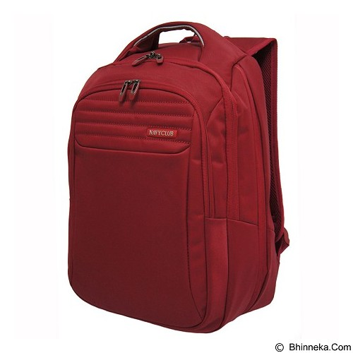 NAVY CLUB Expandable Backpack [8278] - Red - Notebook Backpack