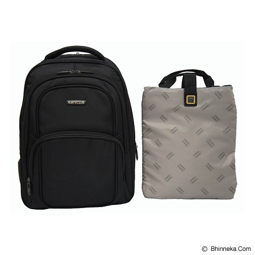 NAVY CLUB Ransel Laptop [5822] - Black - Notebook Backpack