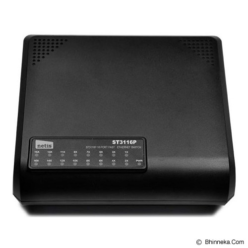 NETIS Switch Unmanaged [ST3116P] - Switch Unmanaged
