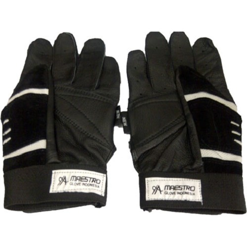 MAESTRO Full Finger Gloves - Black White - Sarung Tangan Motor