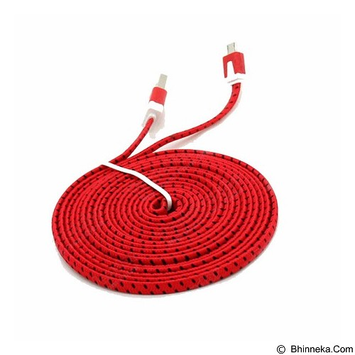 NEWTECH Kabel & Docking Noodle Nylon 3m - Red - Cable / Connector Usb