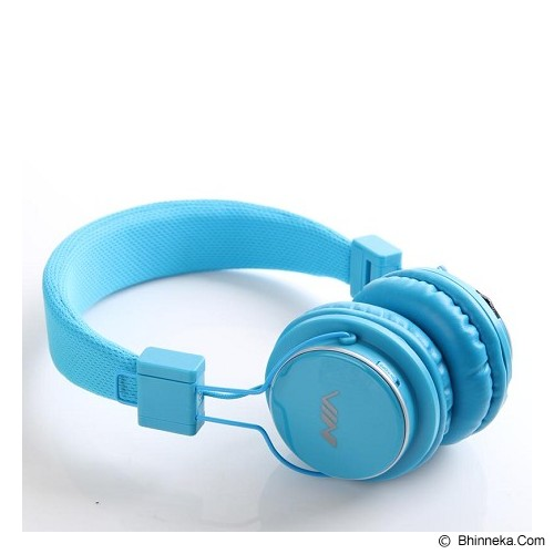 NIA Headphone Bluetooth [Q8-J355] - Biru Muda - Headphone Portable