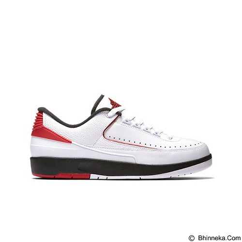 NIKE Air Jordan 2 Retro Low Size 11 - White Black Varsity Red (Merchant) - Sepatu Lari Pria