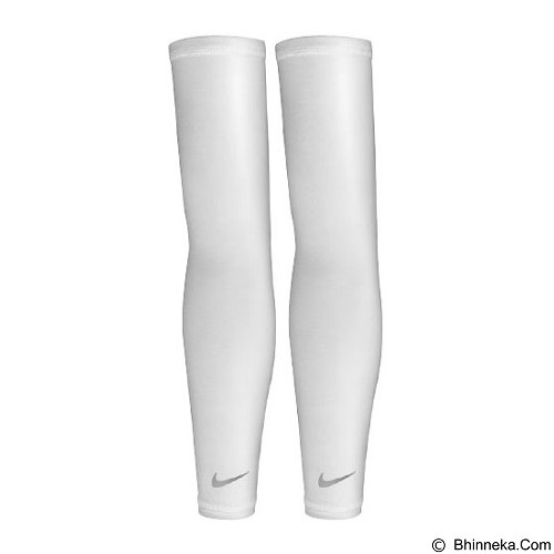 NIKE Lightweight Running Sleeves Size L/XL [N.RS.66.107.LX] - White Silver - Pelindung Lengan / Arm Support