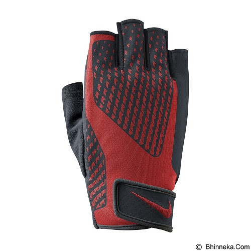 NIKE Men Core Lock Training GLoves 2.0 XL [N.LG.38.020.XL] - Black/University Red - Pelindung Tangan / Hand Support