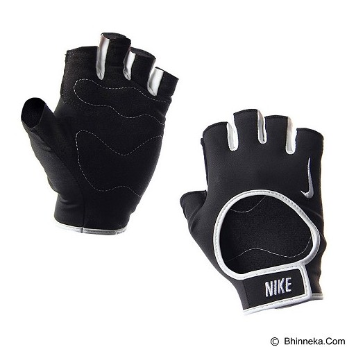 NIKE Womens Fit Training Gloves Size S [N.LG.B0.027.SL] - Black White - Pelindung Tangan / Hand Support