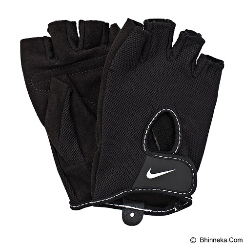 NIKE Womens Fundamental Training Gloves II Size L [N.LG.17.010.XS] - Black White - Pelindung Tangan / Hand Support