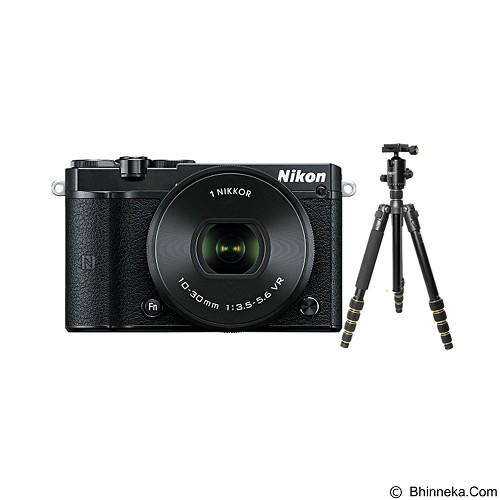 NIKON 1 J5 Mirrorless Digital Camera Kit1 + Aksesories - Black - Camera Mirrorless