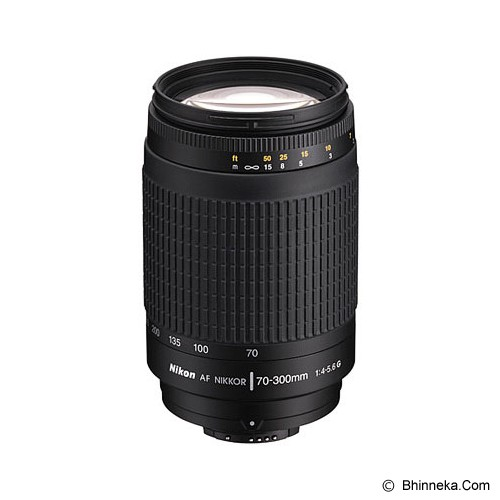 NIKON AF 70-300mm f/4-5.6G - Black - Camera SLR Lens