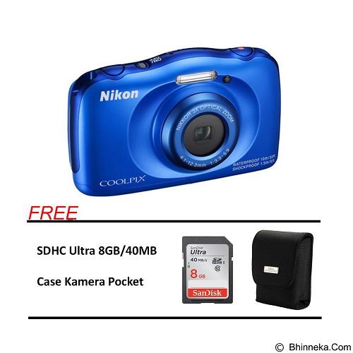 NIKON COOLPIX S33 Paket A - Blue (Merchant) - Camera Underwater