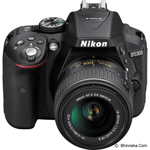 NIKON D5300 Kit2 VR II - Black - Camera Slr