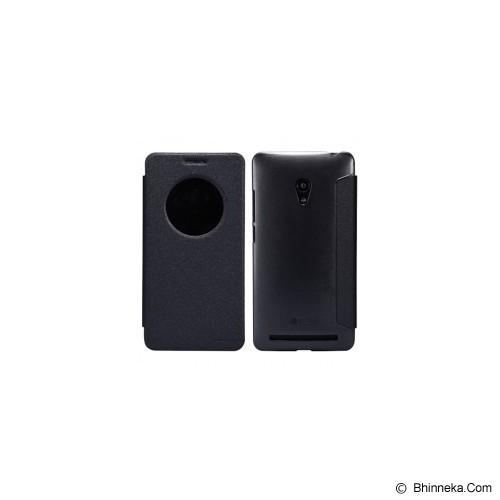 NILLKIN Asus Zenfone 6 Sparkle Flip Leather Case - Black - Casing Handphone / Case