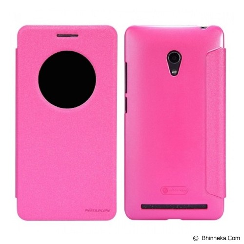 NILLKIN Asus Zenfone 6 Sparkle Flip Leather Case - Pink - Casing Handphone / Case