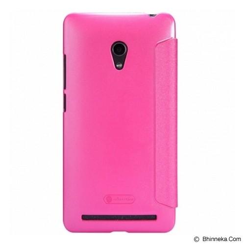 NILLKIN Asus Zenfone 6 Sparkle Flip Leather Case - Pink - Casing Handphone / Case
