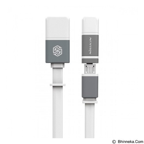 NILLKIN Dual Sync & Charge Cable Micro USB Plus 2 Lightning 120cm - White (Merchant) - Cable / Connector Usb