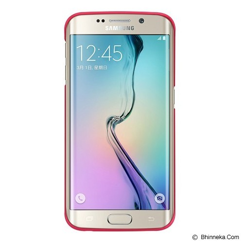 NILLKIN Frosted Hard Case Samsung Galaxy S6 Edge - Red - Casing Handphone / Case