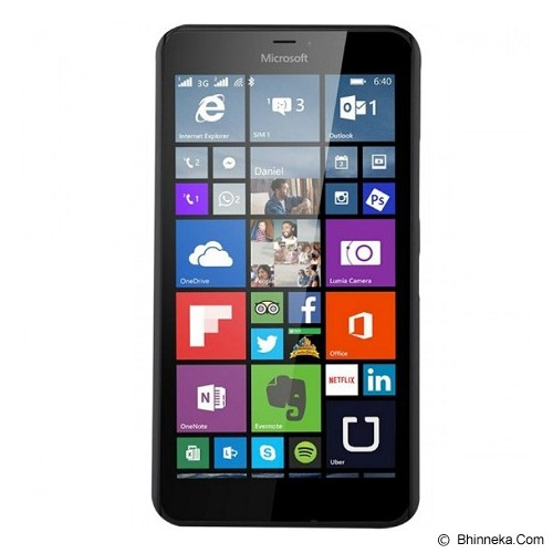 NILLKIN Hard Case Microsoft Lumia 640 XL - Black - Casing Handphone / Case