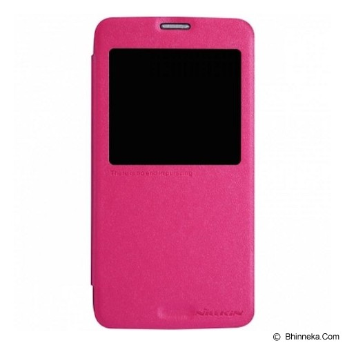 NILLKIN Samsung Galaxy S5 Sparkle Flip Leather Case - Pink - Casing Handphone / Case