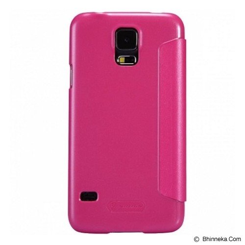 NILLKIN Samsung Galaxy S5 Sparkle Flip Leather Case - Pink - Casing Handphone / Case