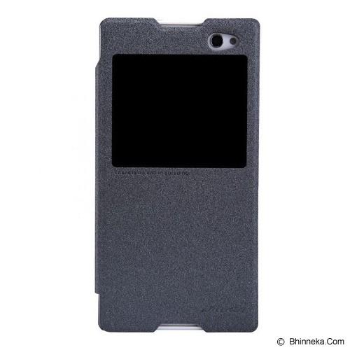 NILLKIN Sony C3 Sparkle Flip Leather Case - Black - Casing Handphone / Case