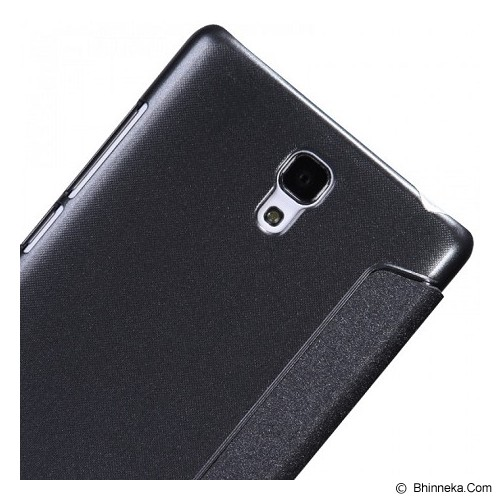 NILLKIN Sparkle Leather Case Xiaomi RedMi Note - Black - Casing Handphone / Case