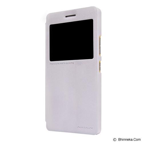 NILLKIN Sparkle Window Flip Case Cover Lenovo A7000 - White - Casing Handphone / Case