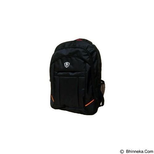 NINEDOUZE Tas Ransel Punggung Sport 6STRP - Black Orange (Merchant) - Backpack Pria