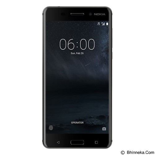 NOKIA 6 (64GB/4GB RAM) - Arte Black (Merchant) - Smart Phone Android