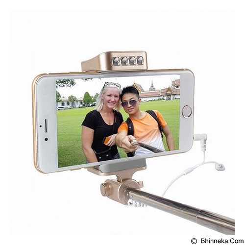 NOOSY Night Sky Wired Selfie Stick Mirror LED Light [BR10] - Gadget Monopod / Tongsis