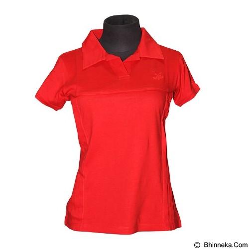 NOPE USA MADE Kaos Kerah Atasan Wanita Size M [LP 007] - Red - Kaos Wanita