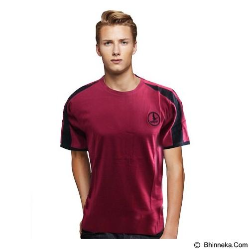 NOPE USA MADE Kaos Polos Size M [MT 004] - Dark Red - Kaos Pria