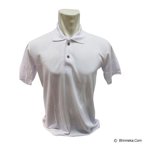 BKP Polo Shirt Kerah Polosan Size M [PSPE-PO] - Putih - Polo Pria
